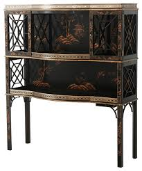 Asian Bar Cabinet Theodore Chocolate Garden Cabinet View In Your Room