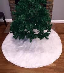 white tree skirt faux fur christmas tree skirt white faux fur tree skirt fur tree
