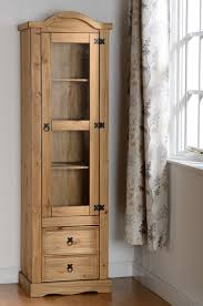 Narrow Pine Bookcase by Corona 4 U0027 Headboard Distressed Waxed Pine Solidwood Furniture
