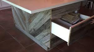 quartz countertops reclaimed wood kitchen island lighting flooring