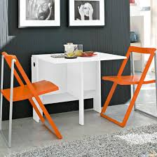 small folding kitchen table simple white folding dining table for small spaces with orange