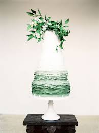 wedding cake greenery wedding cake ideas ombre green with greenery topper diy