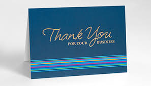 business thank you cards modern designing business thank you cards with logo stand folded