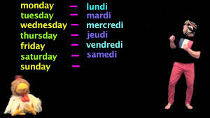 learn french days of the week in french french lessons youtube