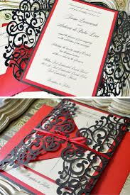 Invitation Cards Design With Ribbons Best 25 Red Wedding Invitations Ideas On Pinterest Red And