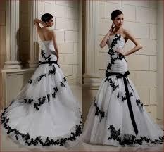 white wedding dress with black lace overlay naf dresses