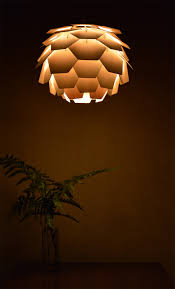 round pine cone hanging lamp