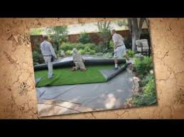 Synthetic Grass Backyard Synthetic Grass Backyard Install Youtube