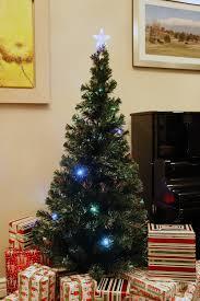 6 ft pre lit multi color led fiber optic tree
