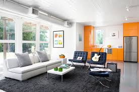 home interior color design using the pantone trend orange wisely in your house white