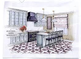 House Beautiful Kitchen Designs Interior Designer Wolf Sketches A Gorgeous Kitchen With