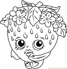 strawberry kiss shopkins coloring free shopkins coloring