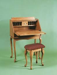 Mid Century Secretary Desk by Amish Queen Anne Secretary Desk
