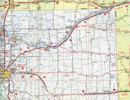 Nebraska State Map by Interstate Guide Interstate 76 Western