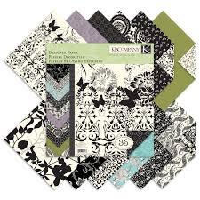 amazon com k u0026company black u0026 ivory designer 12 by 12 inch paper pad