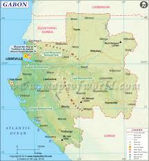Africa Map With Capitals by Gabon Map Map Of Gabon