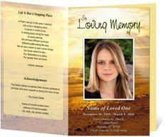 memorial program ideas funeral programs summit bifold funeral templates for a funeral