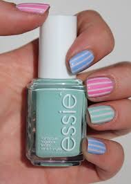 fundamentally flawless essie week pastel stripes nail art with