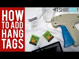 Name Tag On Desk How To Add Hang Tags To Your T Shirts Youtube