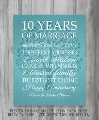10 years anniversary gift simple 10 year wedding anniversary gift ideas b56 in pictures
