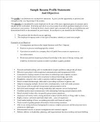 example resume objective statement awesome job objective