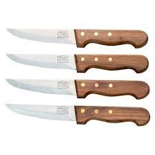 target kitchen knives chicago cutlery basics steakhouse walnut 4 5 inch steak