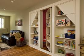 Secret Door Bookcase Hidden Door Bookcase Closet Family Room Rustic With Family Room