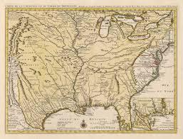 Un Map 1730 Carte De La Louisiane Et Du Cours Du Mississipi Dressee Sur