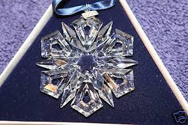 swarovski snowflake ornaments swarovski 1995