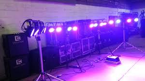 chauvet slimpar 56 led light testing chauvet slim par pro led in warehouse youtube