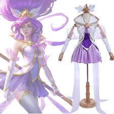 League Legends Halloween Costume Lol Star Guardian Magical Janna Uniform Dress Cosplay