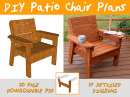 amazing of outdoor chair plans with free plans for outdoor