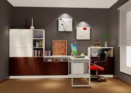 minimalist interior design in study room 3d house