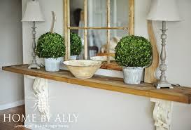 Diy Entryway Diy Entryway Table Using Corbels Architectural Salvage Home By Ally