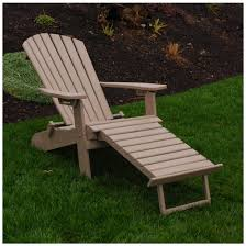 Pull Out Ottoman A L Furniture Poly Folding Reclining Adirondack Chair With Pullout