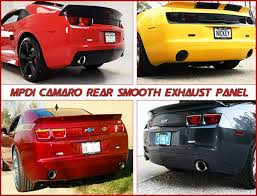 2010 camaro rear diffuser 2010 2011 2012 2013 camaro rear smooth exhaust panel 0110crexp by