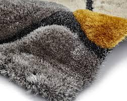 Pebble Rugs Shaggy Pile Pebble Effect Noble House Rug Large Centre Piece Mat
