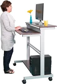 standing desk on wheels mobile desks on wheels desk ideas