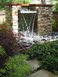 backyard waterfalls modern design house improvements amazing
