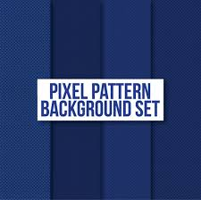 blue pattern background html blue pixel pattern background set vector premium download