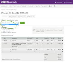 invoice and quote settings myob essentials accounting myob