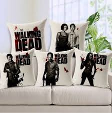 The Walking Dead Room Decor Cotton Linen Throw Pillow Case Cushion