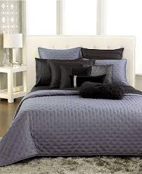 Grey Quilted Bedspread Inc International Concepts Bedding Black Incline Coverlet