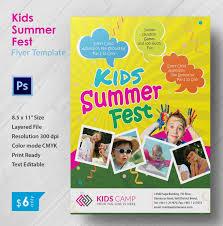 perfect kids summer fest flyer template free u0026 premium templates