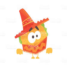 cartoon sombrero funny cartoon mexican taco character wearing poncho and sombrero