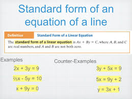 rewriting linear equations in standard form a equation worksheet