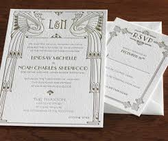 gatsby wedding invitations the great gatsby inspired wedding invitation letterpress wedding