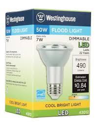 westinghouse par20 7 watt 50 watt equivalent medium base cool