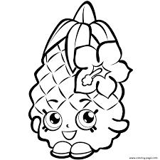 print fruit pineapple shopkins season 1 coloring pages shopkins