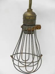 Wire Cage Light Industrial Vintage Drop Pendant Light With Wire Cage And